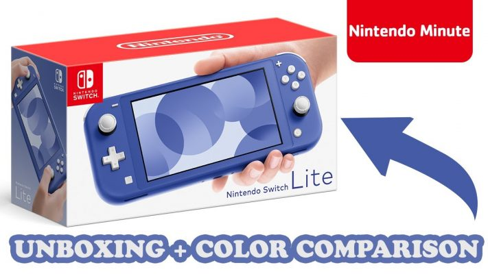Nintendo Switch Lite Blue Unboxing + Color Comparison